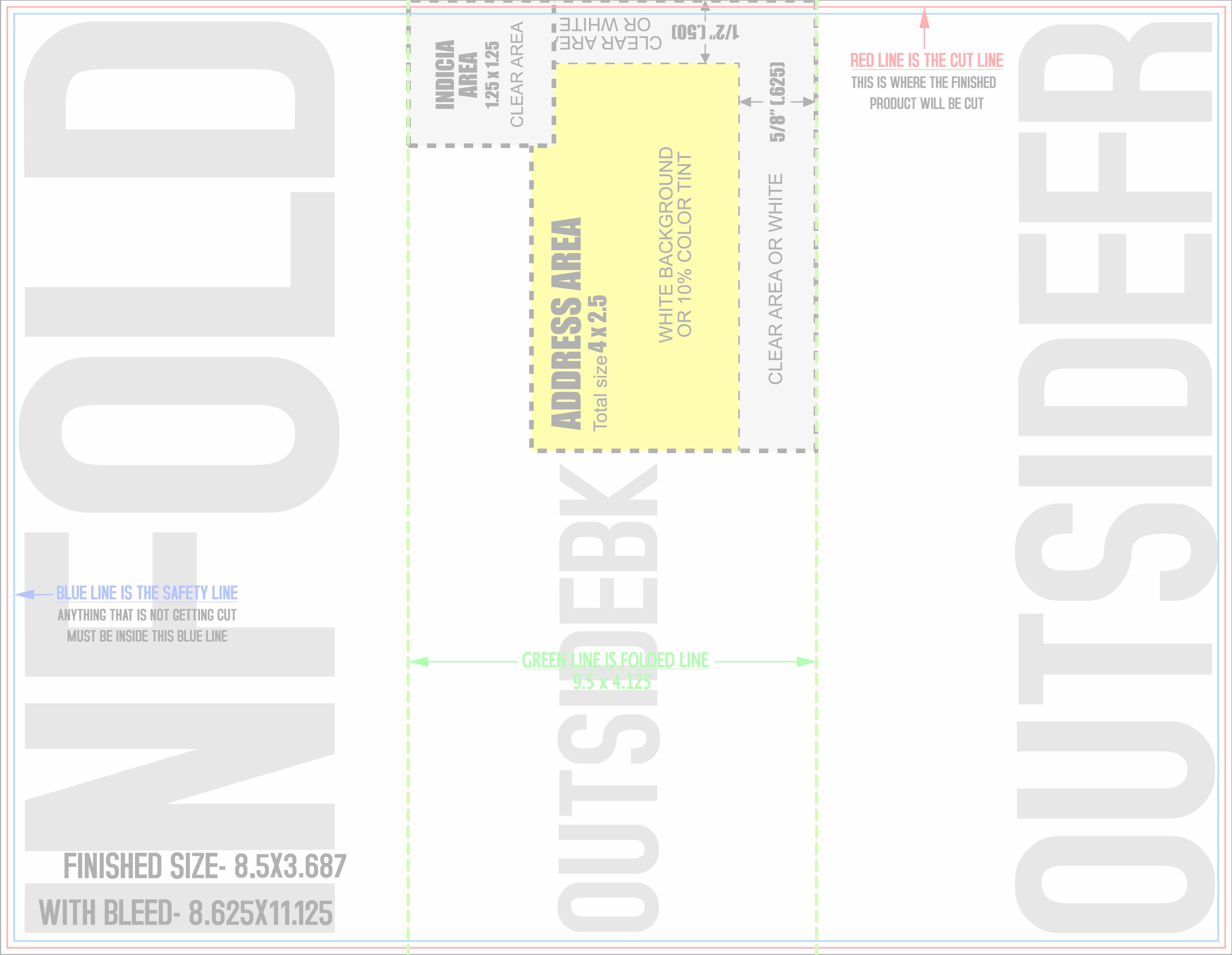Trifold Mailer Template Insssrenterprisesco - 85x11 brochure template
